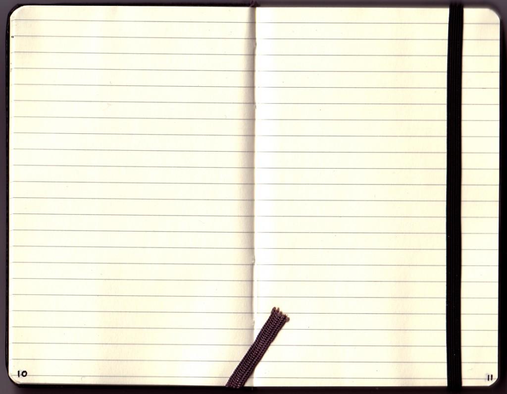 Le cahier Moleskine ne me quitte jamais.
