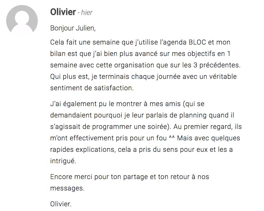 Témoignage Olivier